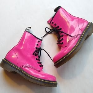 DOC MARTENS • 1460 Pascal pink lace-up boots